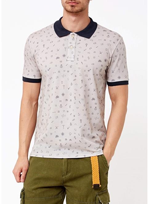 Phazz Brand Polo Yaka Tişört Gri